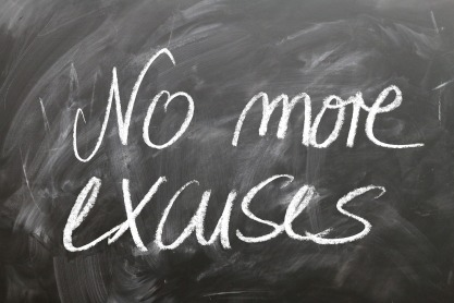 no more excuses - motivation project - blog